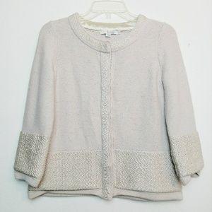 Boden Heavy Knit Cardigan Blazer Wool Blend 6